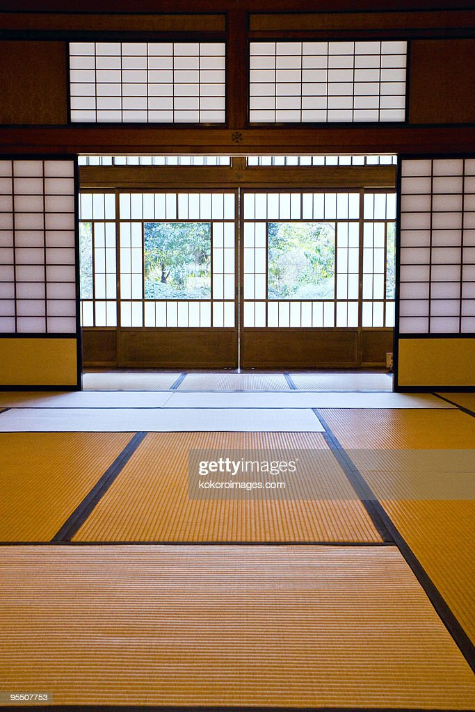 Tatami room in a traditional Japanese house : ストックフォト