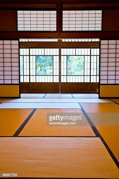 Tatami room in a traditional Japanese house