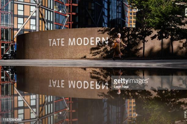 Tate Director Maria Balshaw walks past the Tate Modern on June 20 2019 in London England