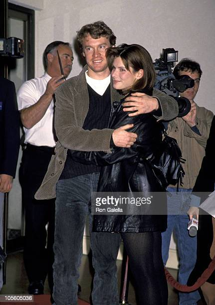 Tate Donovan and Sandra Bullock during 'On Deadly Ground' Los Angeles Premiere at Mann's Bruin Theater in Westwood California United States