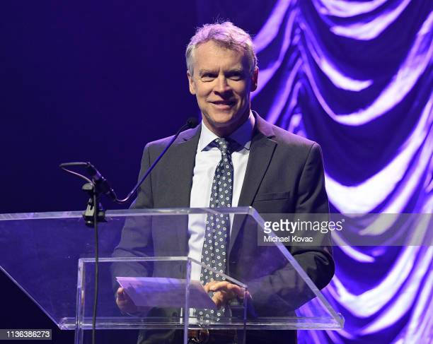 Tate Donovan emcees Global Wildlife Conservation's Wild Night For Wildlife annual gala hosted by Brian and Adria Sheth at ACL Live at the Moody...