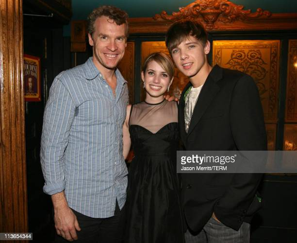 Tate Donovan Emma Roberts and Max Thieriot during Nancy Drew Los Angeles Premiere After Party in Los Angeles California United States
