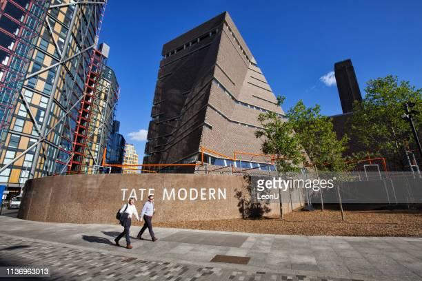 テート・モダン朝、ロンドン、イングランド、英国 - ロンドン サウスバンク ストックフォトと画像