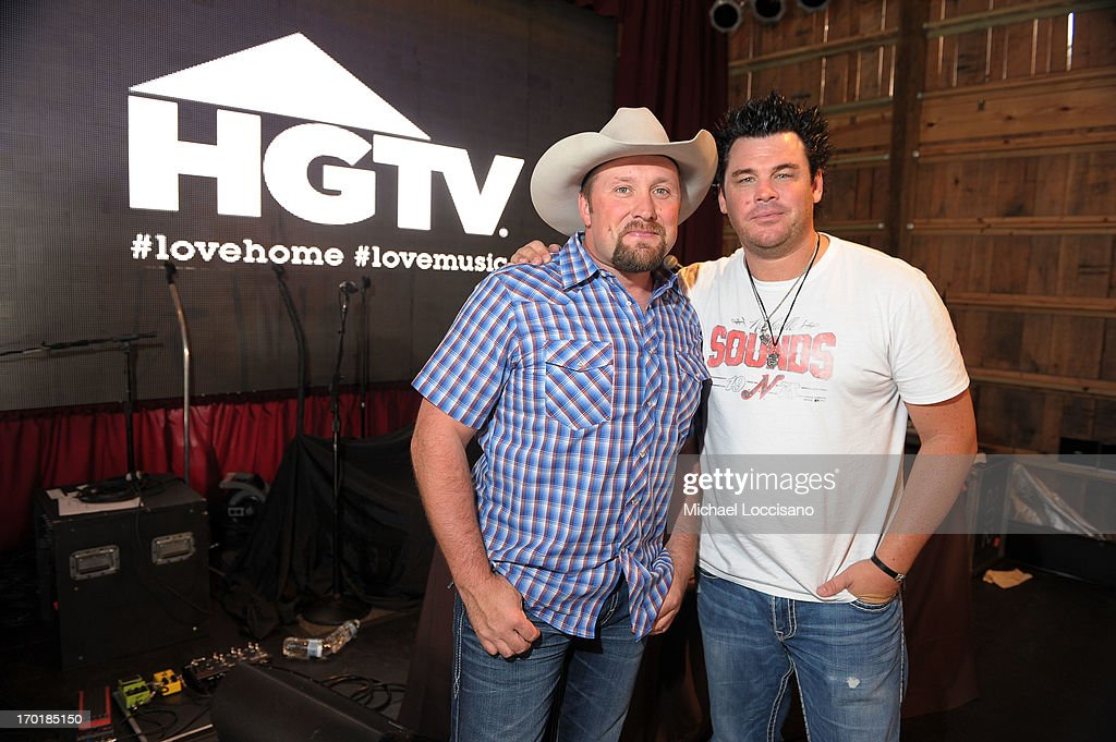 Tate Stevens and Dee Jay Silver attend HGTV'S The Lodge At CMA Music Fest - Day 3 on June 8, 2013 in Nashville, Tennessee.