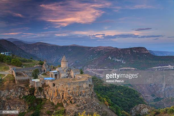 Tatev Monastery at sunset, Armenia