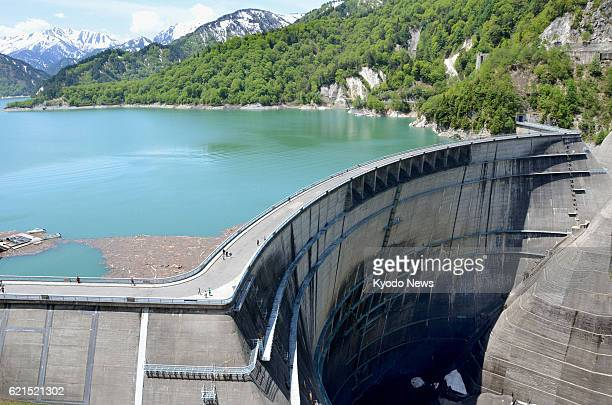 Tateyama Japan Photo shows Kurobe Dam on the Kurobe River in Toyama Prefecture on June 5 the 50th anniversary of the arch dam's completion