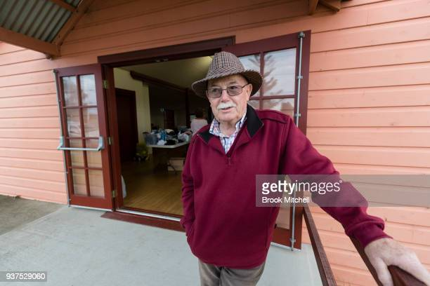 Tathra local and community volunteer Peter Davis is pictured at the town hall which is taking donations of living essentials on March 25 2018 in...