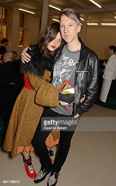 Tati Cotliar and Jefferson Hack attend the Delfina Delettrez London boutique opening dinner during London Fashion Week Fall/Winter 2015/16 on...