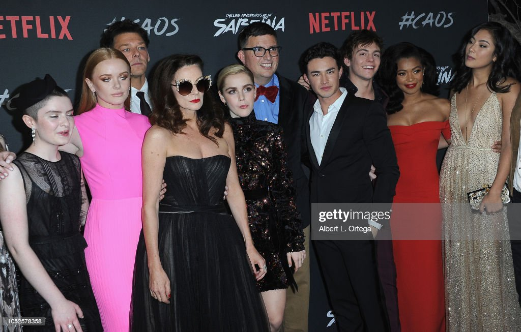 """Premiere Of Netflix's """"Chilling Adventures Of Sabrina"""" - Arrivals : News Photo"""