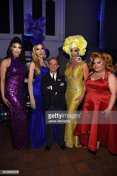 Tatiana Alaska Thunderfvck Joel Grey Alyssa Edwards and Ginger Minj attend the 2016 Logo's Trailblazer Honors at Cathedral of St John the Divine on...
