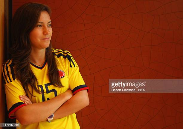 Tatiana Ariza of Colombia during the FIFA portrait session on June 25 2011 in Cologne Germany