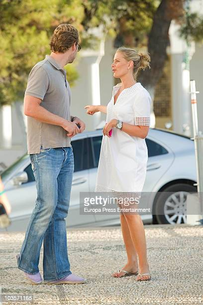 Tatiana Blatnik and her brother on August 24 2010 in Spetses Greece