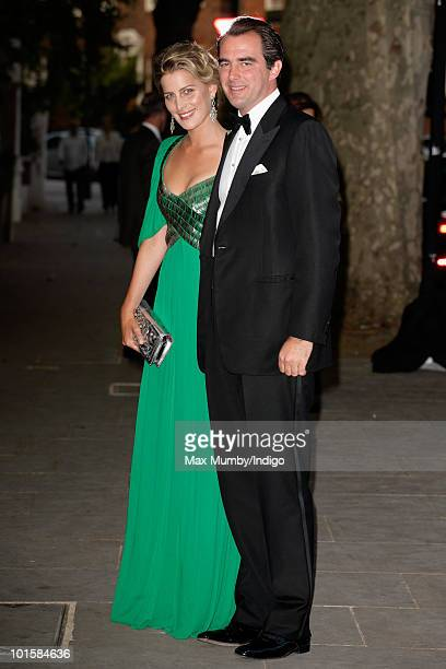 Tatiana Blatnik and Prince Nikolaos of Greece attend King Constantine of Greece's 70th birthday party at Crown Prince Pavlos of Greece's residence on...
