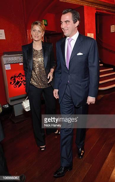 Tatiana Blatnik and Prince Nikolas of Greece attend The ICA Fundraising Gala at KOKO on March 24 2010 in London England