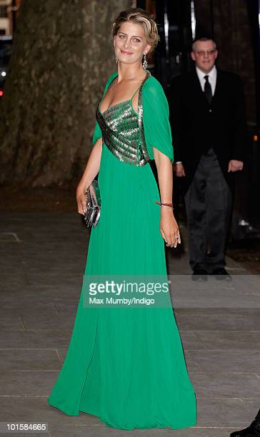 Tatiana Blatnik attends King Constantine of Greece's 70th birthday party at Crown Prince Pavlos of Greece's residence on June 2 2010 in London England