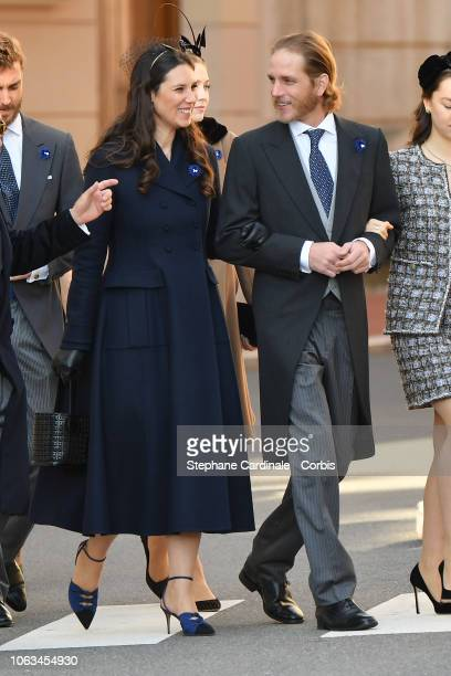 Tatiana Casiraghi and Andrea Casiraghi attend Monaco National Day Celebrations on November 19 2018 in MonteCarlo Monaco