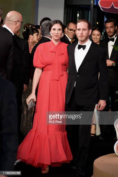 Tatiana Casiraghi and Pierre Casiraghi attend the Rose Ball 2019 to benefit the Princess Grace Foundation on March 30 2019 in Monaco Monaco