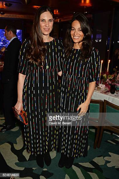 Tatiana Casiraghi and Tania El Chiaty attend the launch of the new Venyx Oseanyx collection hosted by Eugenie Niarchos and Lucy Yeomans at Sexy Fish...