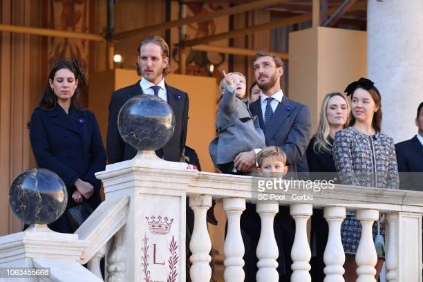 Tatiana Casiraghi Andrea Casiraghi Sacha Casiraghi Pierre Casiraghi and his son Stefano Casiraghi and Princess Alexandra of Hanover attend Monaco...