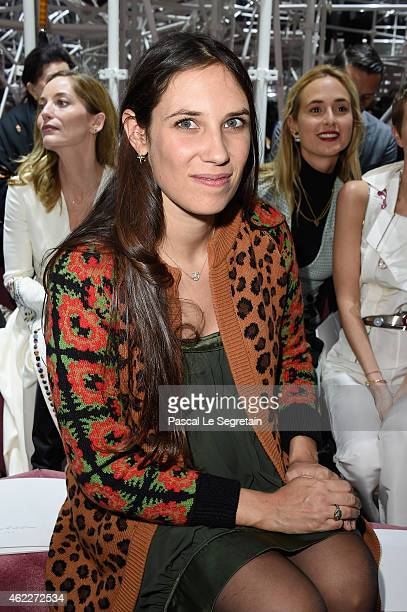 Tatiana Casiraghi attends the Christian Dior show as part of Paris Fashion Week Haute Couture Spring/Summer 2015 on January 26 2015 in Paris France