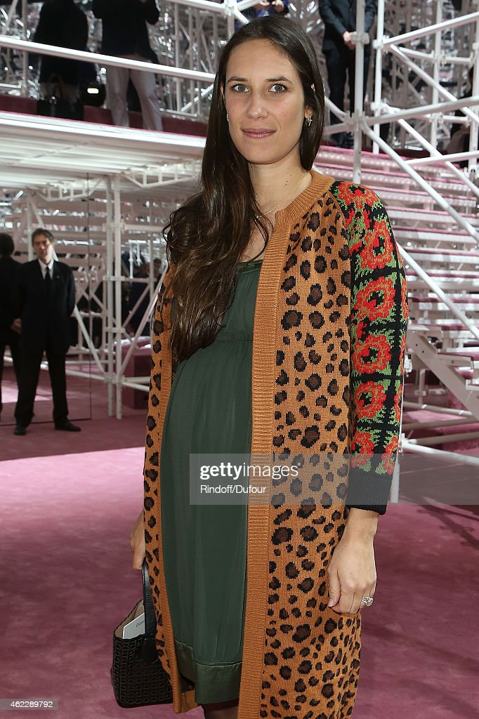 Tatiana Casiraghi attends the Christian Dior show as part of Paris Fashion Week Haute Couture Spring/Summer 2015 on January 26, 2015 in Paris, France.