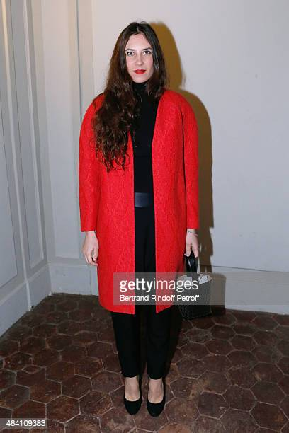 Tatiana Casiraghi attends the Giambattista Valli show as part of Paris Fashion Week Haute Couture Spring/Summer 2014 on January 20 2014 in Paris...