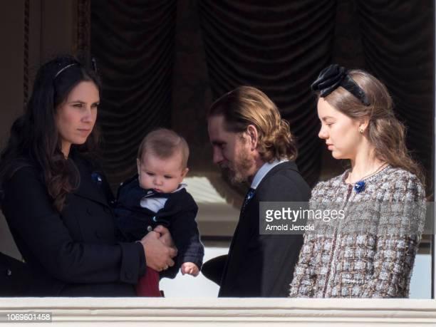 Tatiana Casiraghi Sacha Casiraghi Andrea Casiraghi and Princess Alexandra of Hanover attend Monaco National Day Celebrations on November 19 2018 in...