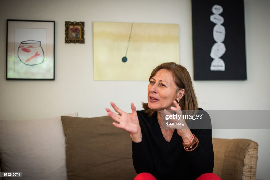 Tatiana Clouthier, campaign manager for Morena party's Mexican presidential candidate Andres Manuel Lopez Obrador, speaks during an interview in Mexico City, Mexico, on Wednesday, June 13, 2018. Drug mules, farmers forced to grow illegal crop and women forced into criminal acts may be part of presidential front-runner Obrador's drug amnesty plan, Clouthier said at an event in Mexico City. Photographer: Lujan Agusti/Bloomberg via Getty Images
