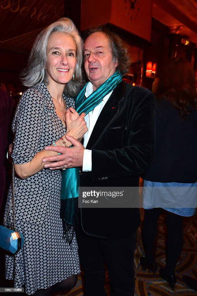 Tatiana de Rosnay and Gonzague Saint Bris attend La Closerie Ses Lilas Literary Awards 2013 - 6th Edition At La Closerie Des Lilas on April 9, 2013 in Paris, France.