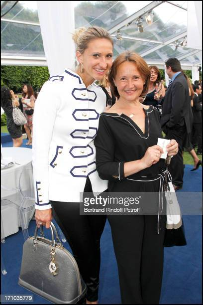 Tatiana Golovin and her mother at Charity Dinner Sponsored By Longines Elegance Is An Attitude In Benefit Of Foundation Agassi At Museum Rodin In...