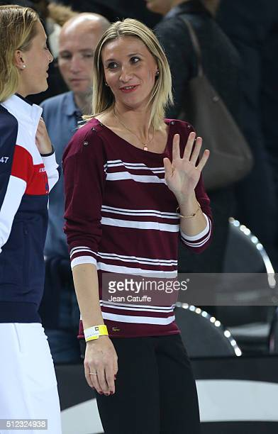 Tatiana Golovin attends day 2 of the Fed Cup World Group tie between France and Italy at Palais des Sports on February 7 2016 in Marseille France