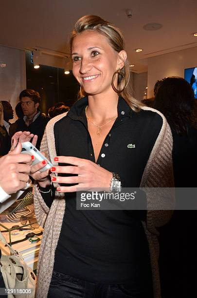 361df087b19c35 Tatiana Golovin attends the Lacoste Flagship Store Opening Party at Lacoste  Champs Elysees on April 28