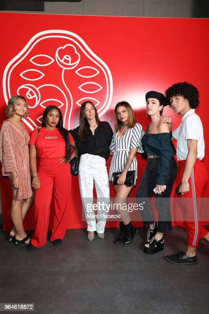 Tatiana guest Janane Boudili guest Shera Kerienski and guest attend the #Ultimune Launch Event on May 31 2018 in Paris France