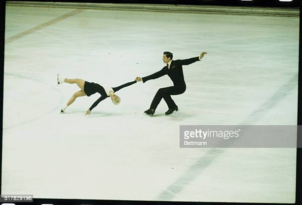 Tatiana Joukchesternava and Alexandre Gorelik from Russia are shown performing as they come in second to capture the Silver medal in the Pairs Figure...