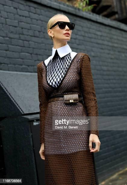 Tatiana Korsakova attends the Burberry show during London Fashion Week on September 16 2019 in London England