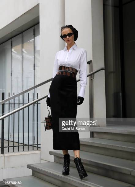 Tatiana Korsakova attends the Christopher Kane show during London Fashion Week on September 16 2019 in London England