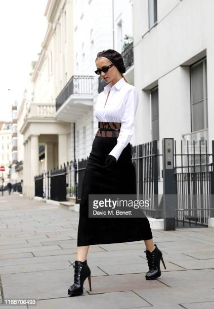 Tatiana Korsakova attends the Christopher Kane show during London Fashion Week on September 16, 2019 in London, England.