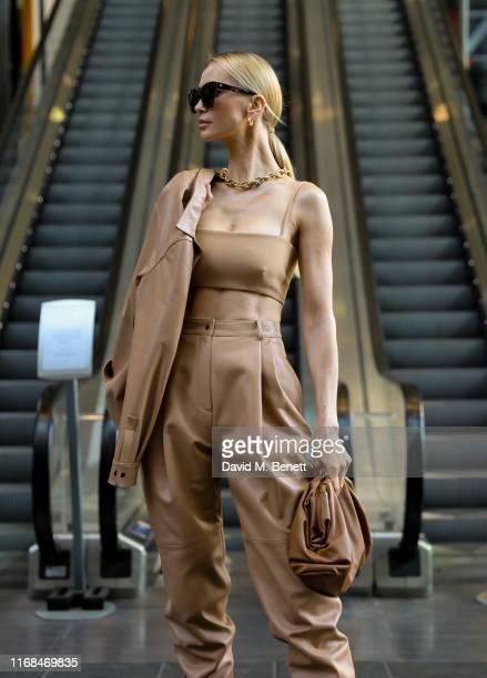 Tatiana Korsakova attends the David Koma show during London Fashion Week on September 15 2019 in London England