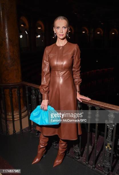 Tatiana Korsakova attends the Emilia Wickstead show during London Fashion Week September 2019 at the Royal Albert Hall on September 15 2019 in London...
