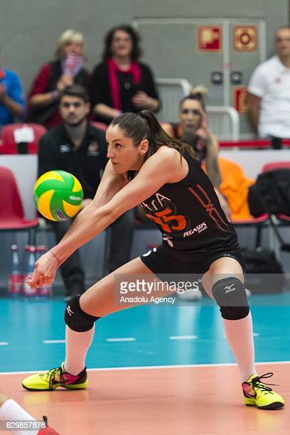 Tatiana Kosheleva of Eczacibasi VitrA in action during the Volleyball European Champions League Group D match between Dresdner SC and Eczacibasi...