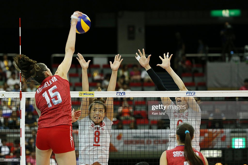Russia v China - FIVB Women's Volleyball World Cup Japan 2015 : News Photo
