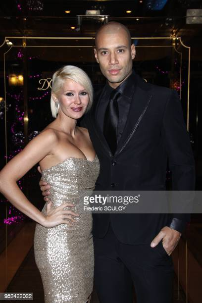 Tatiana Laurens and her husband Xavier attend 'The Best' at The Pavillon Dauphine Restaurant in Paris France on December 11 2011