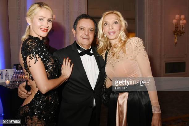 Tatiana Laurens Delarue Edouard Nahum and Sylvie Elias attend the 41st 'The Best' Award Ceremony in Paris Paris Fashion Week Haute Couture Spring...