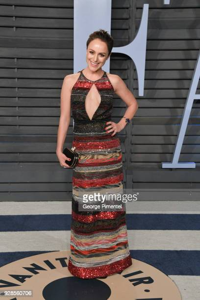 Tatiana Luter attends the 2018 Vanity Fair Oscar Party hosted by Radhika Jones at Wallis Annenberg Center for the Performing Arts on March 4 2018 in...