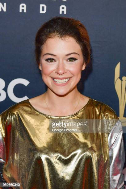 Tatiana Maslany arrives at the 2018 Canadian Screen Awards at the Sony Centre for the Performing Arts on March 11 2018 in Toronto Canada