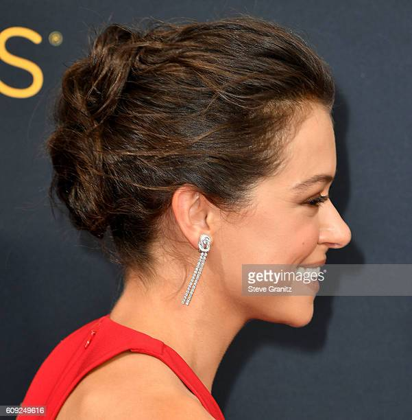 Tatiana Maslany arrives at the 68th Annual Primetime Emmy Awards at Microsoft Theater on September 18 2016 in Los Angeles California