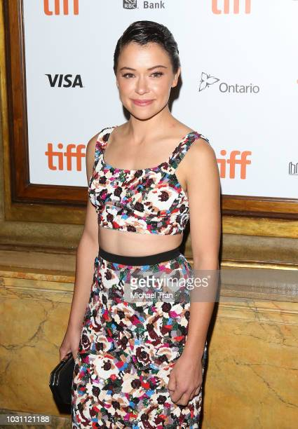 Tatiana Maslany arrives to the premiere of Destroyer held during 2018 Toronto International Film Festival on September 10 2018 in Toronto Canada