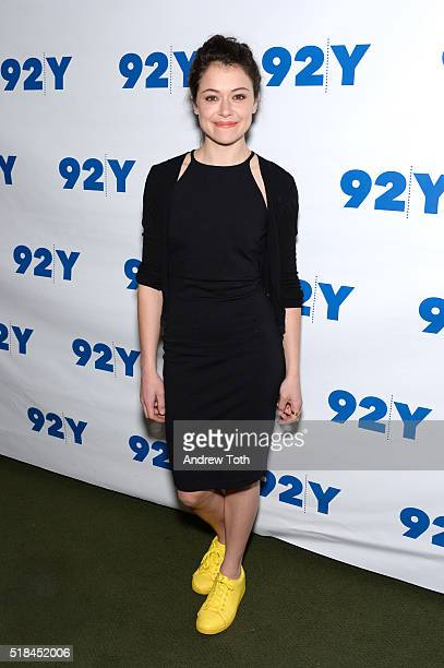 Tatiana Maslany attends An Evening with the Cast CoCreator of 'Orphan Black' at 92nd Street Y on March 31 2016 in New York City