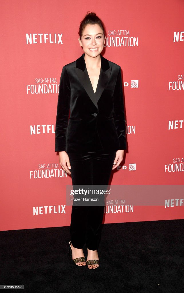 Tatiana Maslany attends SAG-AFTRA Foundation Patron of the Artists Awards at the Wallis Annenberg Center for the Performing Arts 2017 on November 9, 2017 in Beverly Hills, California.