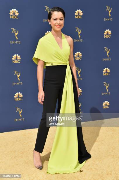 Tatiana Maslany attends the 70th Emmy Awards at Microsoft Theater on September 17 2018 in Los Angeles California